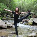 Natasha doing a little yoga in the beautiful nature surrounding Montreat, NC.