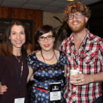 Natasha with Canadian artists Graydon James and Laura Spink of Graydon James and the Young Novelists.